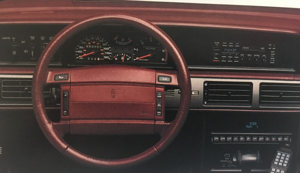 Brochure dash view of 92 Mark VII