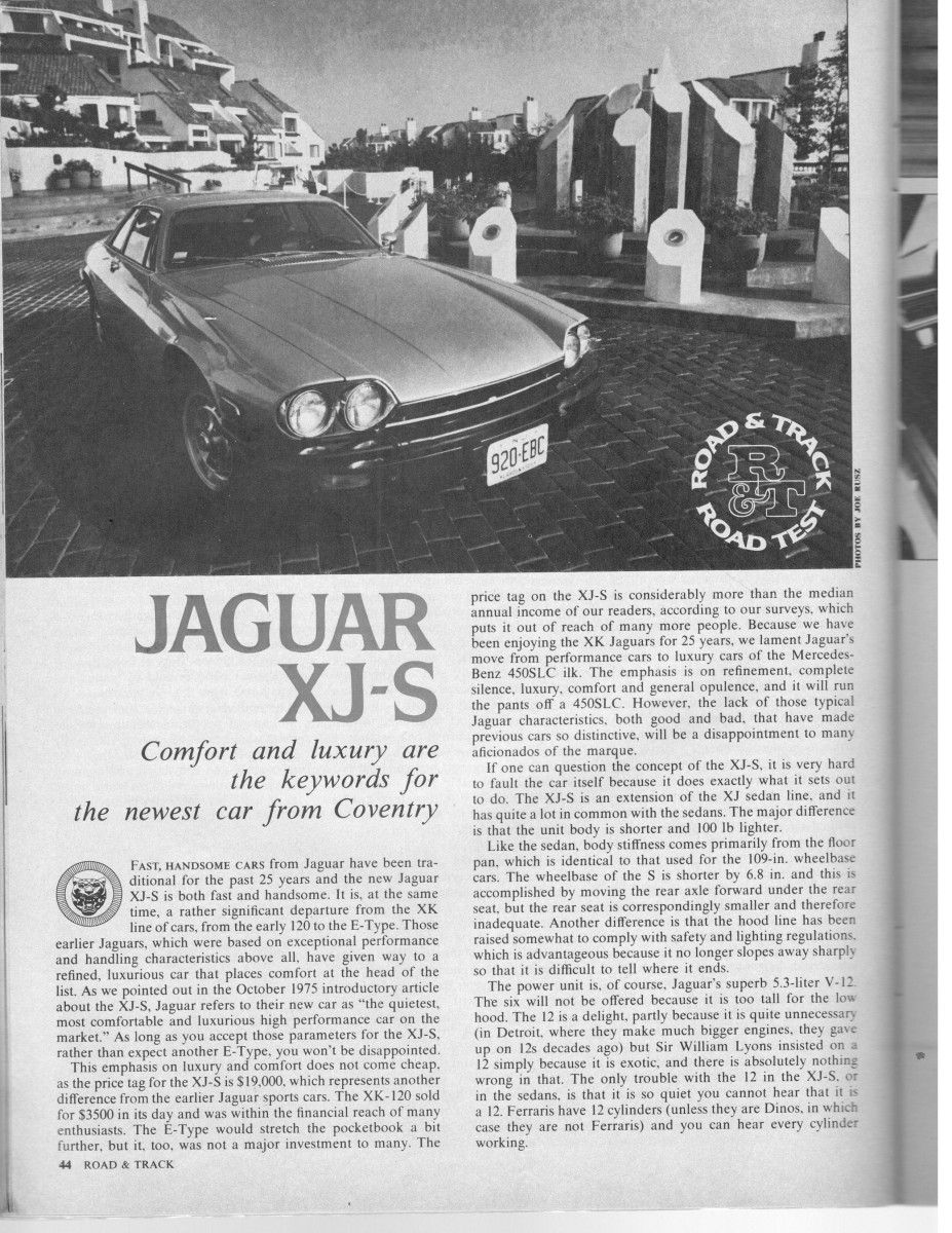 Vintage R T Review Jaguar Xj S The Brougham Era Replacement For