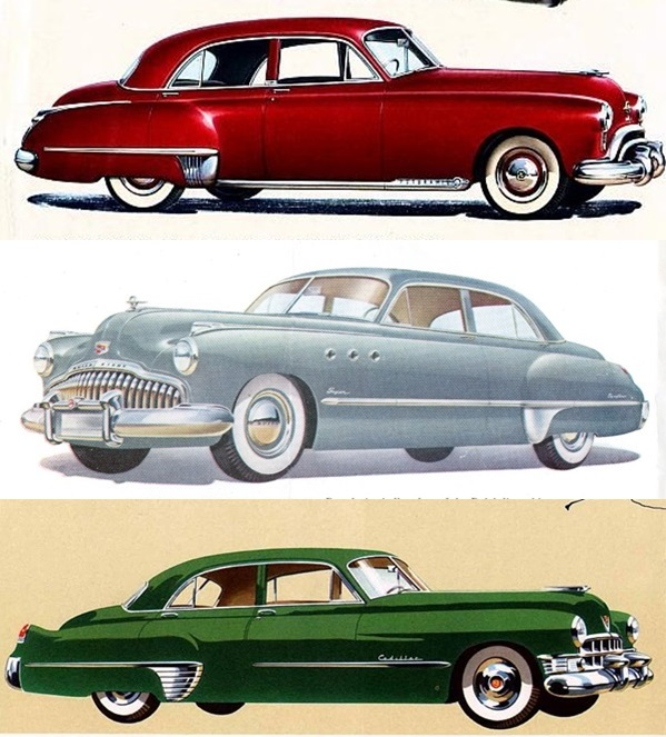 1949 Buick Super: The 1949 C Body Cars, Top To Bottom: Oldsmobile 98, Buick