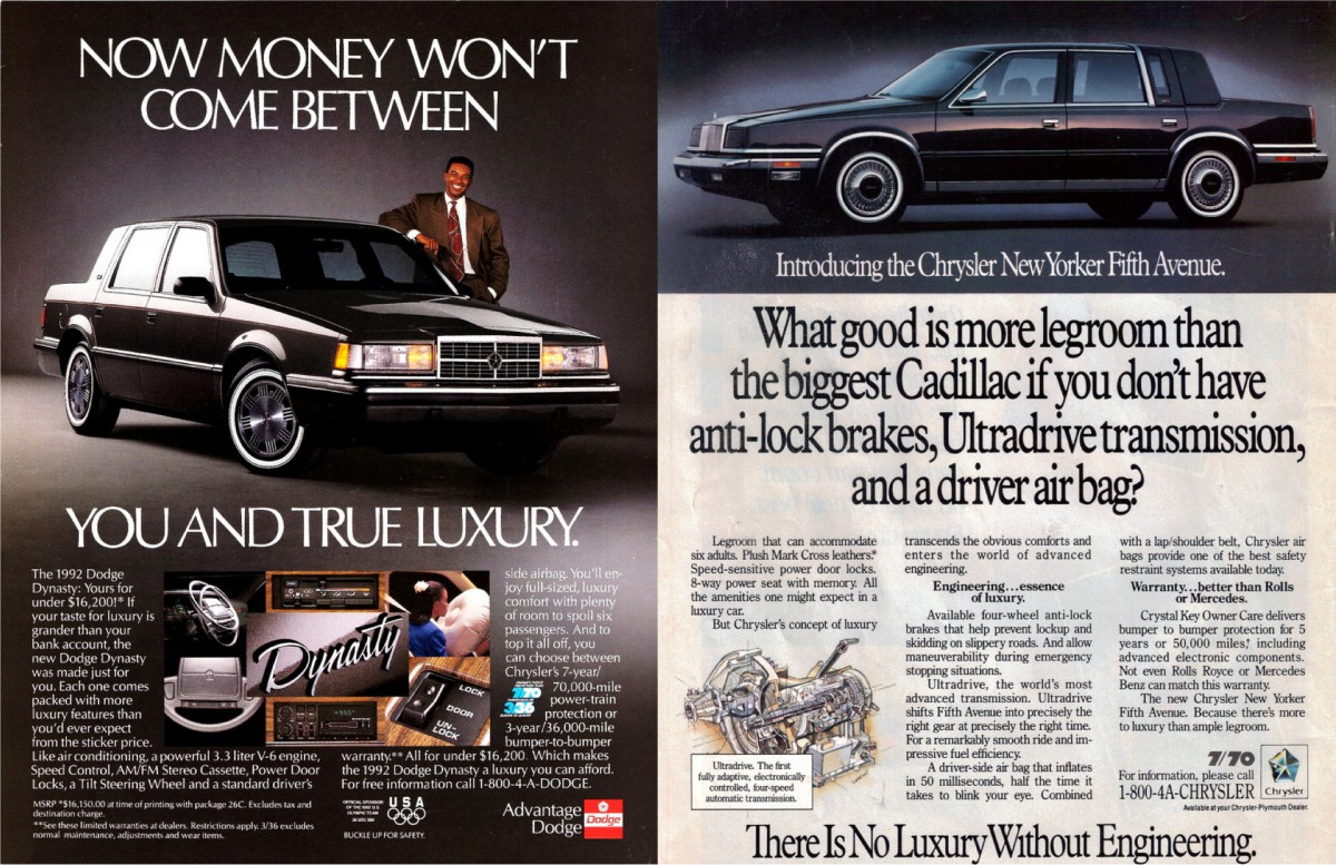 Curbside Classic: 1991 Dodge Dynasty – Enter Alexis