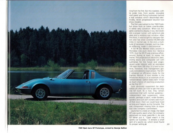 Automotive History The Opel Gt 1968 1973 The Long Road From