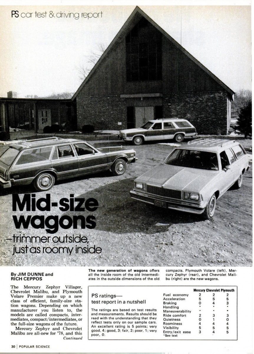 Vintage Review Popular Science Tests 1978 Chevrolet Malibu Mercury Hot Start Cure And Remote Starter Switch Thirdgenorg I Tend To Agree That These Cars Were Competitors There Drastic Changes Occurring In The Auto Industry At This Time Is Likely What Lead