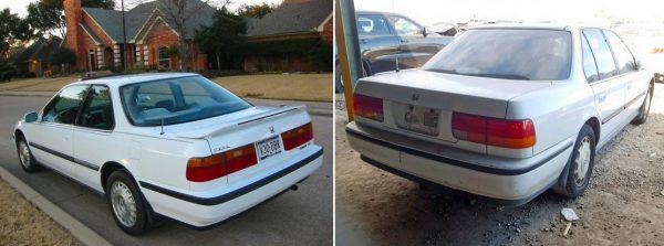 1990-1993 Honda Accord taillight comparison