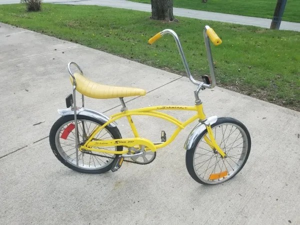 classic Schwinn LEMON PEELER bicycle DECAL for your CAR YELLOW