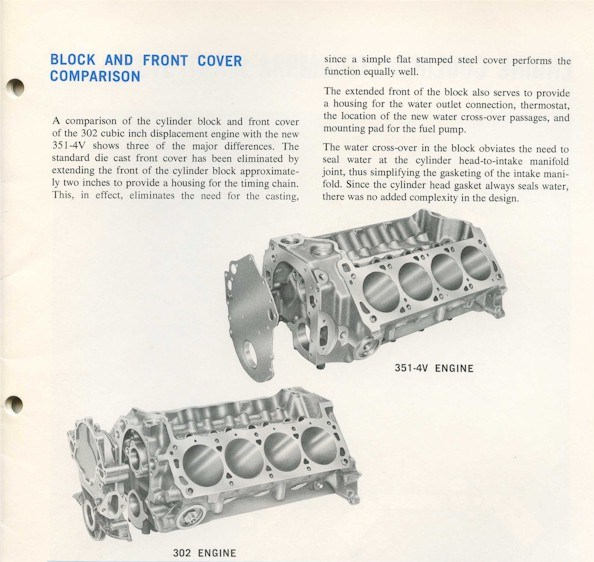The Ford 335 Series V8 Engines 351c 400 351m It Could Ve