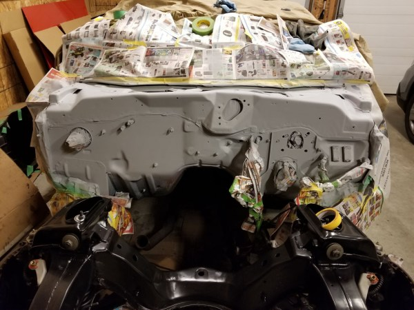 1972 Ford Torino firewall in primer