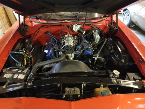 1972 Ford Torino engine compartment