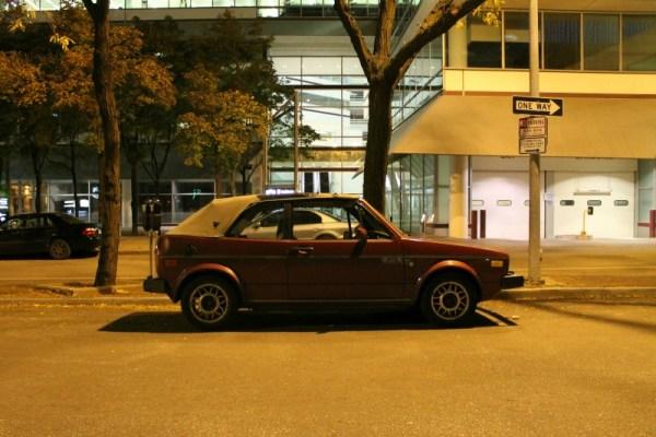 c. 1985 Volkswagen Cabriolet in downtown Des Moines, Iowa.