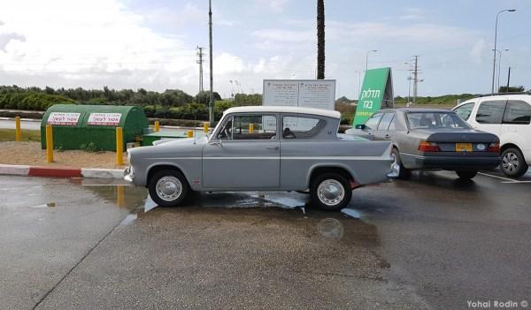 Grey Ford Anglia 105E