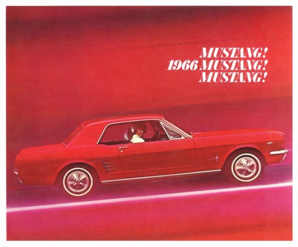 1966 Ford Mustang brochure photo, courtesy of www.oldcarbrochures.com.