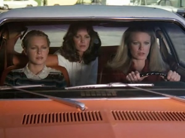 Shelley Hack as Tiffany Welles inherited Sabrina Duncan's Pinto.