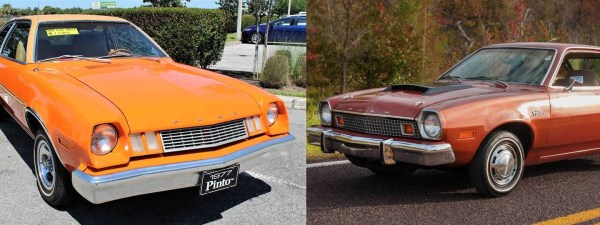 1976 and 1977 Ford Pinto Comparison