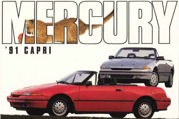 1991 Mercury Capri brochure photo.