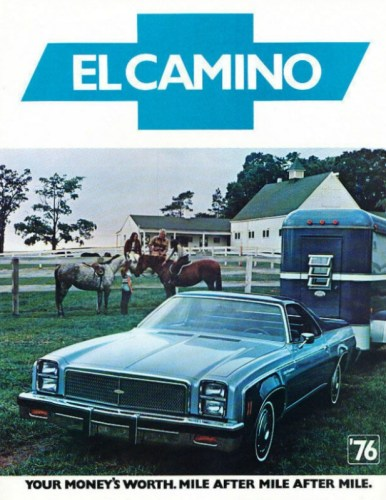 1976 Chevrolet El Camino brochure photo, courtesy of www.oldcarbrochures.com.