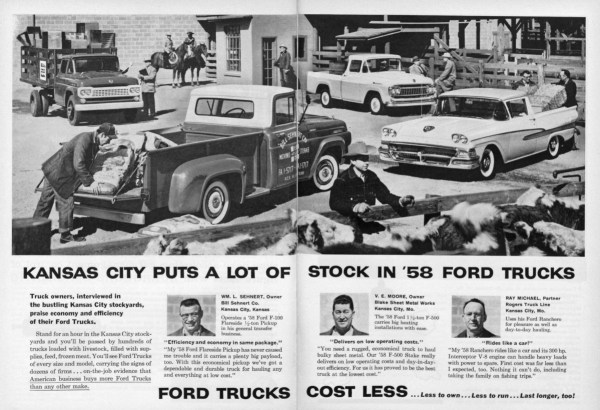 1958 Ford Trucks ad Kansas City