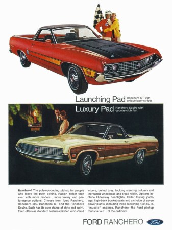 1970 Ford Ranchero ad