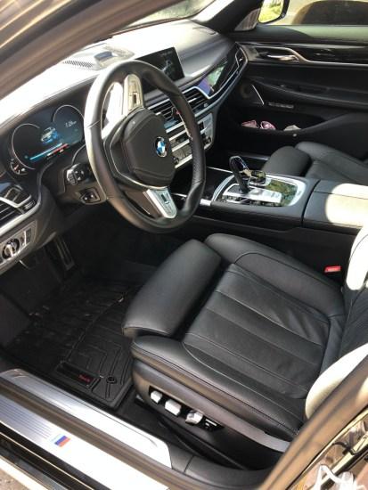 BMW 740e driver seat
