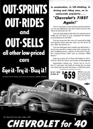 1940 Chevrolet ad
