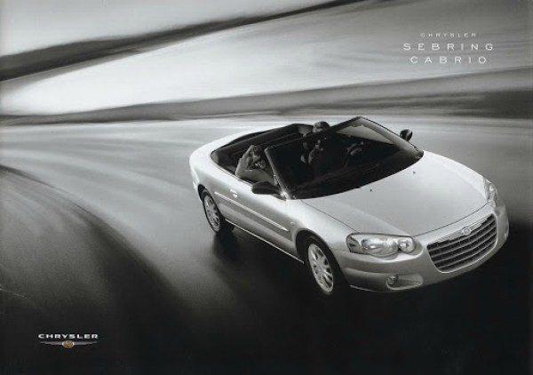 2004 Chrysler Sebring Cabrio brochure cover, as sourced from the internet.