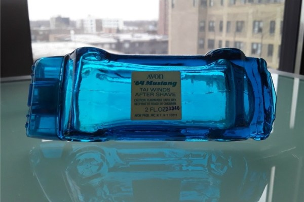 "Avon ""Tai Winds"" 1964 Ford Mustang aftershave"