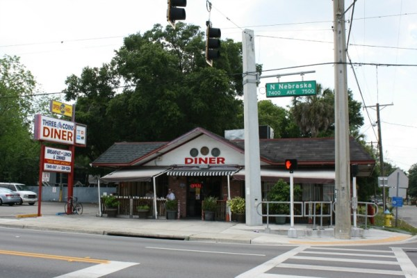 Three Coins Diner. Seminole Heights, Tampa, Florida. Friday, May 17, 2013.