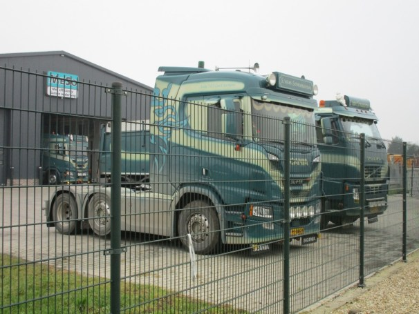 Scania tractors and Volvo dump truck