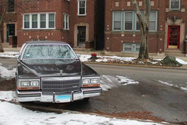 1986 Cadillac Fleetwood Brougham. Edgewater, Chicago, Illinois. Saturday, January 2, 2021.