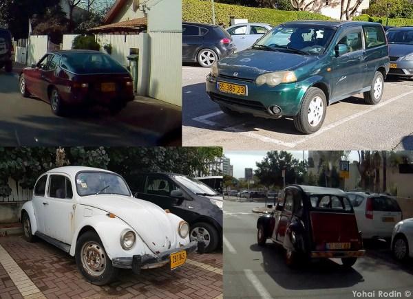 Porsche 924, Honda HRV, VW Beetle, Citroen 2CV