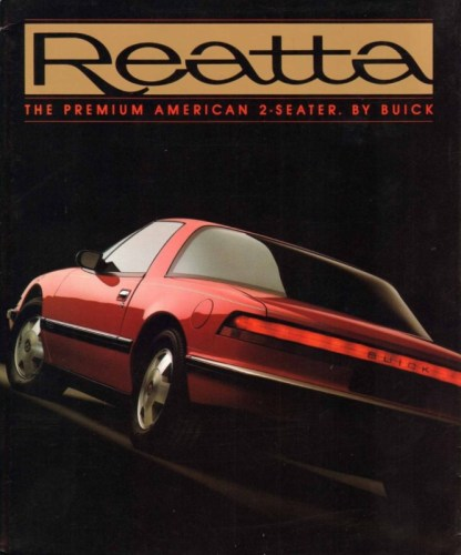 1988 Buick Reatta brochure cover, courtesy of www.oldcarbrochures.com
