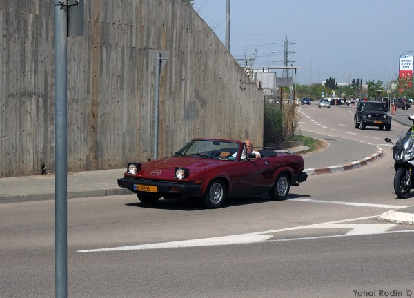 Maroon Triumph TR7