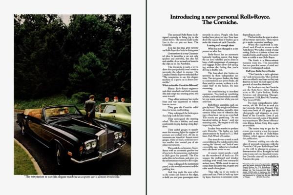 1972 Rolls-Royce Corniche ad