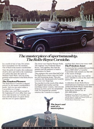 1977 Rolls-Royce Corniche ad
