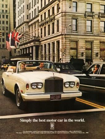 1986 Rolls-Royce Corniche II ad