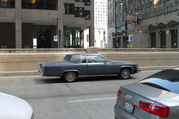 1980 Cadillac Coupe DeVille. Downtown, The Loop, Chicago, Illinois. Friday, April 15, 2016.