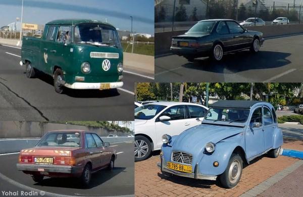 VW T2, BMW E24, SUbaru Leone, Citroen 2CV