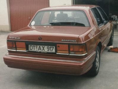 1990 Chrysler Saratoga, rear