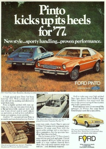 1977 Ford Pinto print ad