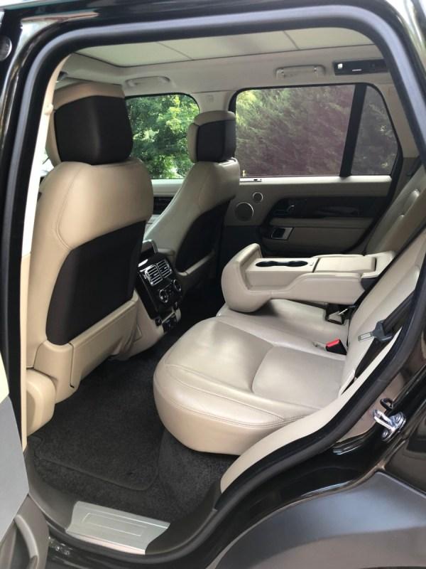 2018 Range Rover rear seat