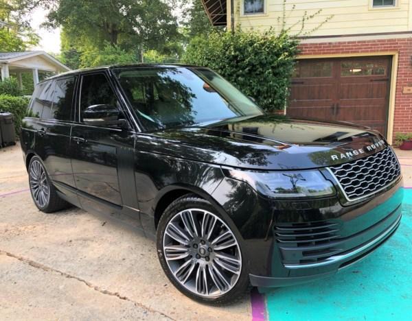 a black 2018 Range Rover