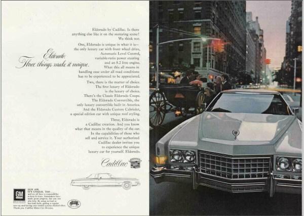 1973 Cadillac Eldorado print ad, as sourced from the internet.