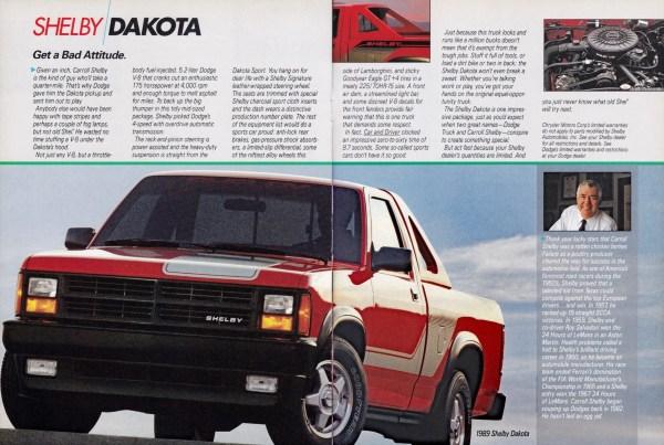 1989 Shelby Dakota ad