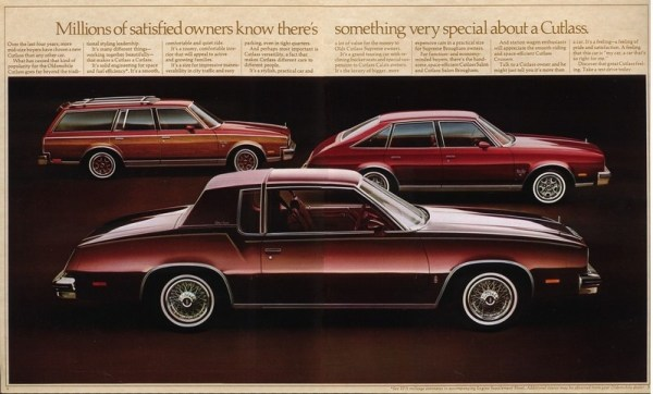 1979 Oldsmobile Cutlass brochure page, courtesy of www.oldcarbrochures.com.