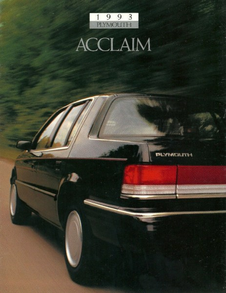 1993 Plymouth Acclaim brochure cover.
