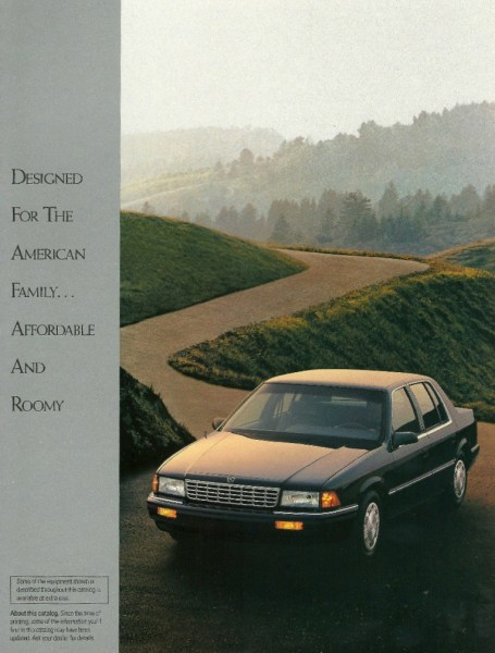 1993 Plymouth Acclaim brochure page, courtesy of the internet.