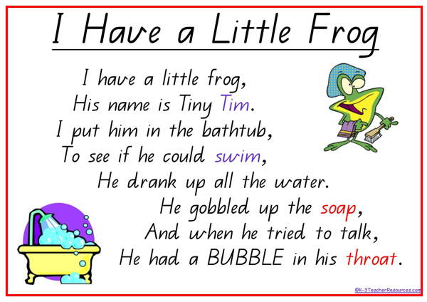 Frog Poem QLD Page 1 On CureZone Image Gallery