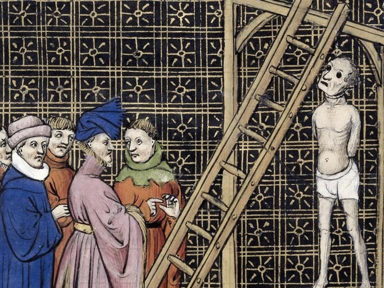 La dépouille de l' argentier de Philippe le Bel pourrira pendant 2 ans au gibet de Montfaucon