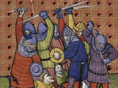Un chevalier rôti à la broche qu'on fit déguster à son épouse…fallait pas énerver nos ancêtres!