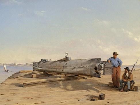 Le premier sous-marin à couler un navire coula en même temps