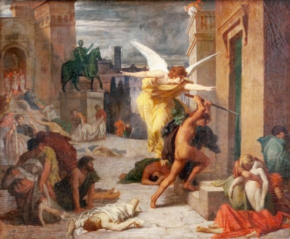 La peste à Rome, par Jules-Élie Delaunay en 1859