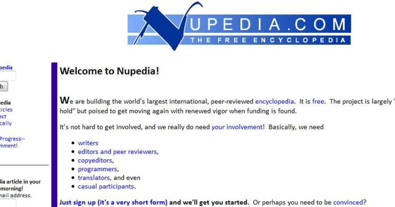 Nupedia, l'encyclopédie en ligne qui a donné naissance à Wikipedia